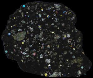 Allende Meteorite Thin Section