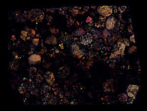 NWA 5205 Meteorite Thin Section