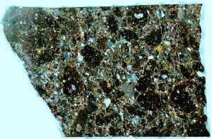 Meteorite Thin Section Dhofar 1528