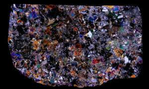 Juvinas Meteorite Thin Section
