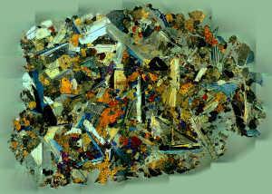Meteorite Thin Section Sayh al Uhaymir 562