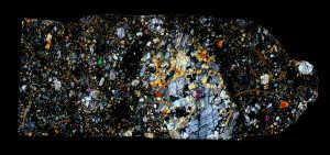 NWA 5000 Meteorite Thin Section