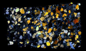 NWA 4587 Meteorite Thin Section
