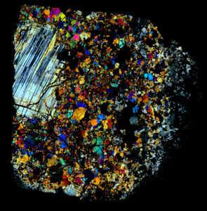 NWA 2999 Meteorite Thin Section