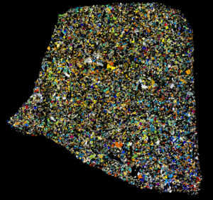 Agoult Meteorite Thin Section