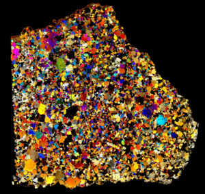 NWA 4801 Meteorite Thin Section