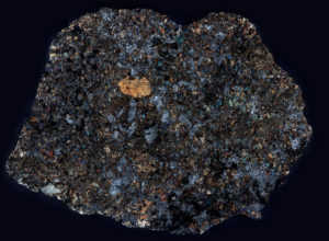 NWA 2824 Meteorite Thin Section