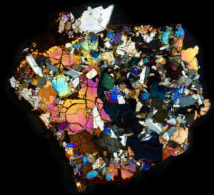 NWA 10646 Meteorite Thin Section