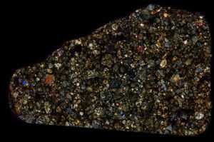 "NWA 4910 ""Begaa"" Meteorite Thin Section"