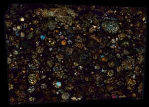 NWA 5028 Meteorite Thin Section