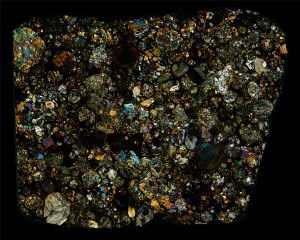 NWA 2892 Meteorite Thin Section