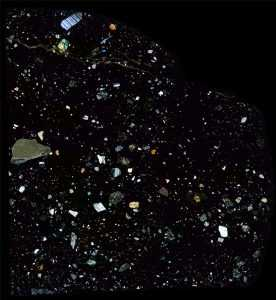 NWA 11220 Meteorite Thin Section