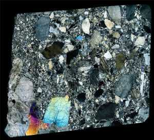Peña Blanca Spring Meteorite Thin Section