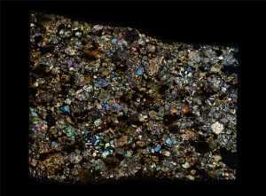 NWA 4460 Meteorite Thin Section
